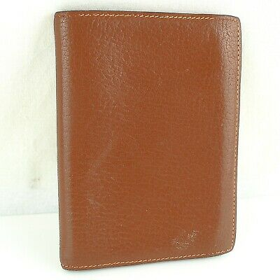 Auth HERMES AGENDA GM Notebook Day Planner Cover Leather Brown Orange
