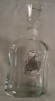 Glass Decanter with Pewter Irish Setter New in Box LAST ONE!