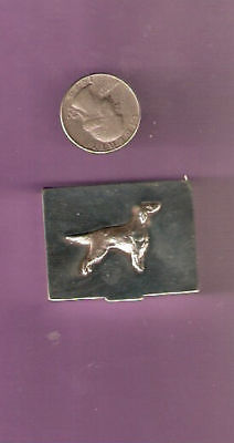Irish or English Setter Silver Very Small Pillbox or Trinket Box - b