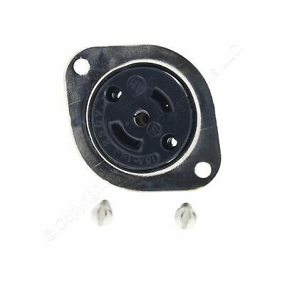 Arrow Hart Black Industrial Midget Locking Flanged Outlet 15A 125/250V 3P3W 7487