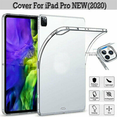 For iPad Pro 11 12.9 (2020) Case Soft Ultra Slim TPU Back Protective Clear Cover