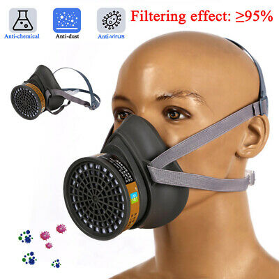 Anti Gas Mask Safety Respiratory Emergency Face Mask With Filter Boxes New