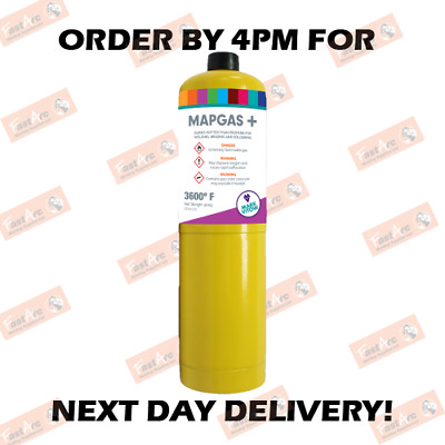 Mapp Map Pro Plus Gas Disposable Bottle Plumbers Burner Cylinder 400G 1,2,3,6,12