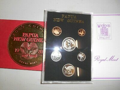 1981 Coinage of PAPAU NEW GUINEA 1981 6 COIN PROOF SET
