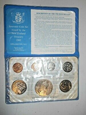 1982 Coinage of NEW ZEALAND 1982 7 COIN UNCIRCULATED SET