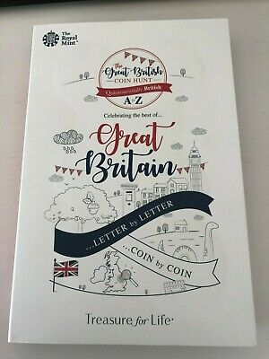 2018/2019 Great British Coin Hunt 10p Coin Album Folder A to Z Royal Mint