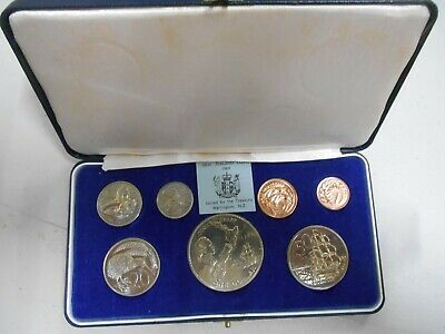 1969 Coinage of NEW ZEALAND COOK Commemorative 7 COIN PROOF SET