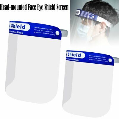 Safety Protective Splash Proof Full Head-mounted Face Eye Shield Screen 1/2/4Pcs