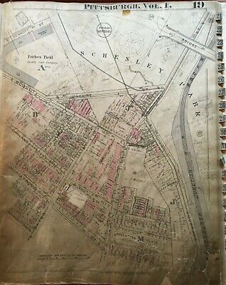 1923 Pittsburgh Pa Forbes Field Home Of The Pittsburgh Pirates Atlas Map