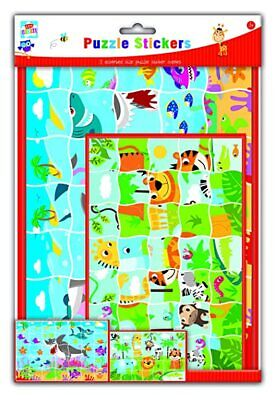 Kids Create/Arts and Crafts Puzzle Sticker Set, Plastic, Assorted Colours