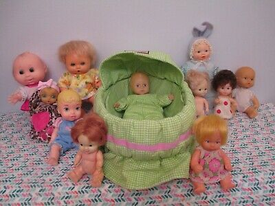 Cute Lot of Mostly Vintage Small All Vinyl & Vinyl and Cloth Baby Dolls