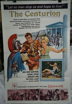 Vintage 1 Sheet Movie poster for The Centurion starring John Drew Barrymore 1962