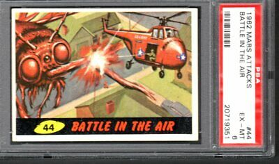 1962 Mars Attacks Card #44 Battle In The Air Psa 6 Ex-Mt # 20719351