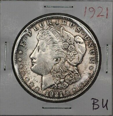 1921 Choice BU Morgan Silver Dollar - Full, Flashy Luster!