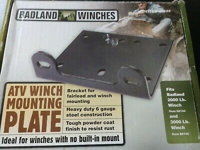 2000 lb and 3000 lb Universal ATV//Utility Winch Mounting Plate