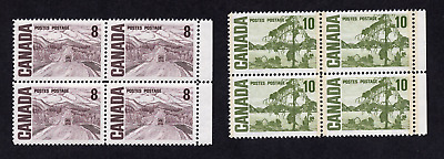 Canada #461 & 462 Centennial Issue Blocks of Four MNH