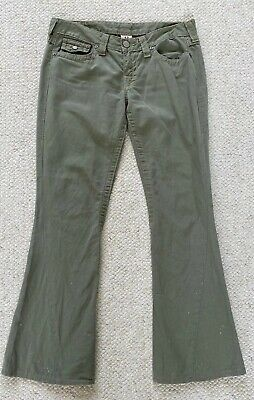 True Religion Jeans Women's Size 29 Olive Green - Made in USA