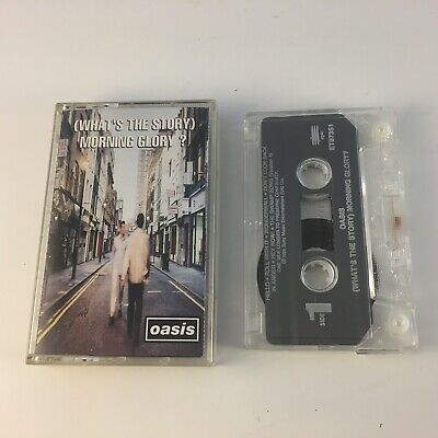 Oasis Whats the Story Morning Glory Audio Cassette 1995 Epic RARE