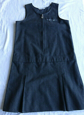 Girls Grey School Pinafore, 9-10 years, by M&S