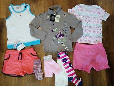NEW Girls clothes mixed bundle 5-6 years, tops, T-shirts, shorts, tights