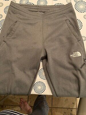 Youth Junior The North Face Grey Tracksuit Joggers Bottoms Pants Sz XL