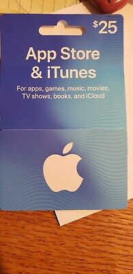 $25 Apple iTunes Gift Card and App Store