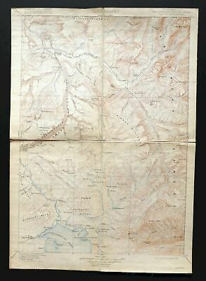 Canyon Wyoming Antique USGS Topo Map 1911 Yellowstone National Park Topographic