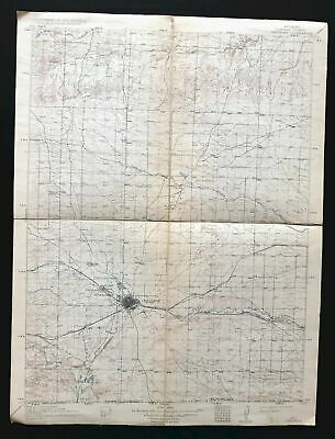 Cheyenne Wyoming Colorado Vintage USGS Topo Map 1914 Ranchettes Topographic