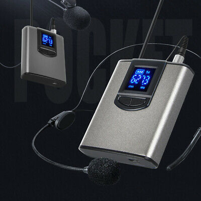 Wireless System with Dual Headset Mic/Lavalier Lapel Mic One Mini Receiver 96DB