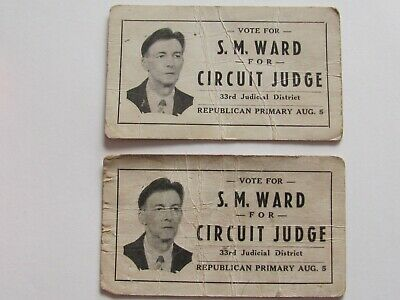 c 1930~VINTAGE~2 (TWO)`S.M. WARD CIRCUIT JUDGE 33rd DIST.~KY-BUSINESS CARDS