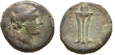 Ancient Greece 261-246 BC Seleukid Antiochos II Theos, Apollo/Tripod #2