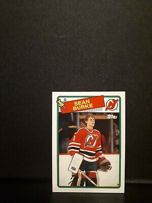 88/88 Topps Sean Burke Devils Rookie Hockey Card Nmnt