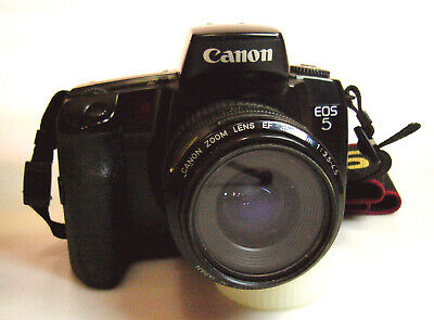 Canon EOS 5 Auto-Focus 35mm SLR Film Camera. Made in Japan