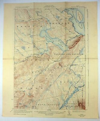 1923 Brassua Lake Maine Vintage Original 15-minute USGS Topo Topographic Map
