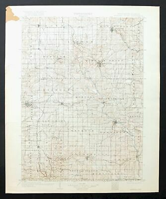 Mineral Point Wisconsin Antique USGS Topographic Map 1902 Platteville Topo