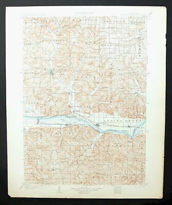 Richland Center Wisconsin Antique USGS Topo Map 1904 Spring Green Topographic