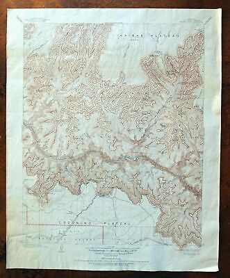 Bright Angel Arizona Vintage USGS Topographic Map 1903 Grand Canyon Village Topo
