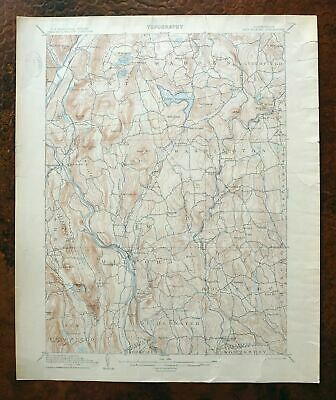 1904 New Milford Connecticut Rare Antique USGS Topo Map Washington Topographic