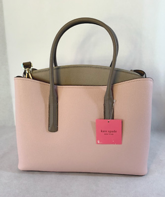 Kate Spade New York Margaux Large Leather Satchel Purse Bag Pink Multi $358