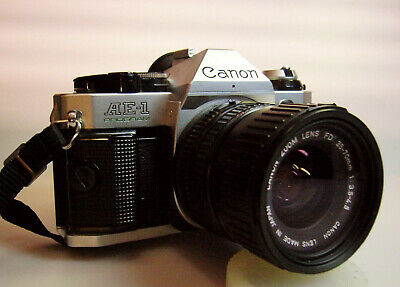Canon AE-1 Program  35mm SLR Camera. Made in Japan.