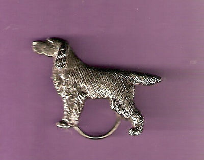 Gordon Setter Nickel Silver Eyeglass Spectacle Holder Pin Jewelry
