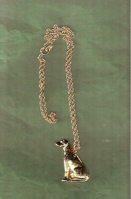 """Rhodesian Ridgeback Gold Plated Necklace Pendant with 20"""" Chain Jewelry"""