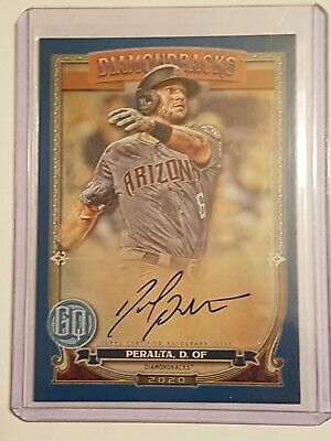 2020 Topps Gypsy Queen David Peralta Blue Auto SP 090/150 GQA-DP