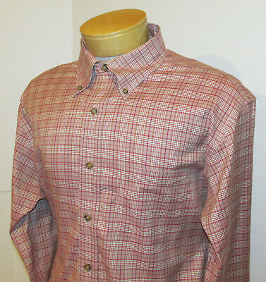 BROOKS BROTHERS Button Down Shirt | Mens Large Slim Fit Stretch Non-Iron Cotton