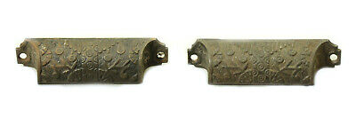 Pair of Early Cast Iron Victorian Windsor Bin Pulls