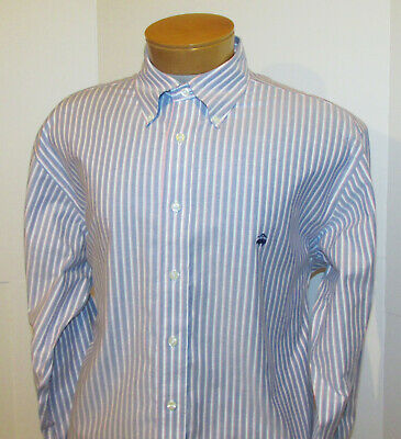 BROOKS BROTHERS Button Down Shirt | Mens Large Supima Non-Iron Cotton Oxford