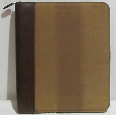 "Vintage Day-Timer 7 Ring Binder (1 & 1/2"" Zippered Planner Cover Desk-Size) NOS"