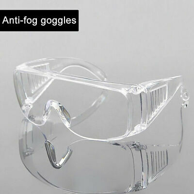 Clear Safety Glasses Goggles Eye Protection Work Lab Dust-proof Anti-fog PC Lens