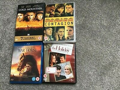 DVD's sleuth,contagion,welcome to the punch (blu ray).vgc.jude law ridley scott