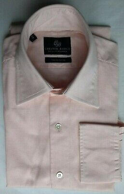 CHESTER BARRIE of Savile Row 100% Cotton Pink Shirt Size 15/38
